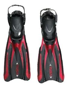 Tusa Medium Hyflex Vesna Open Heel Fins Red and Black