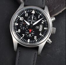 46mm PARNIS IW omaggio al Quarzo Orologio Cronografo Aviatore Pilota UK venditore mozzafiato