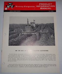 Massey Ferguson MF 129 149 Cultivator Product Information Manual Sales Catalog