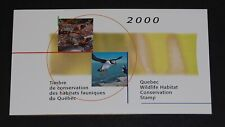 Quebec Wildlife Habitat Conservation Puffin/Turtle 2000 booklet #Qw13