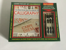 The Practical Encyclopedia of Calligraphy Brand New Craft Set Book Pen Unopened
