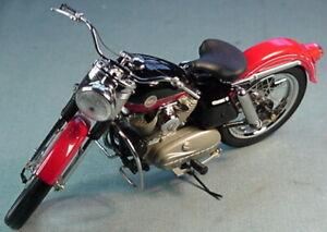 FRANKLIN MINT 1957 HARLEY DAVIDSON XL SPORTSTER RED/BLACK B11TQ07 1/10 MIB