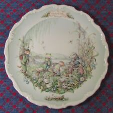 STUNNING VINTAGE ROYAL ALBERT WIND  IN THE WILLOWS CABINET PLATE 'THE PICNIC'