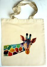 ECO Unique Tote Handmade Chicken Shopping Bag Designed by Artist Maria Moss
