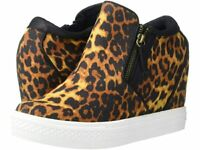 Not Rated Timmibelle Hidden Sneaker Wedge    Leopard   Size: 8.5