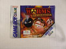 Worms Armageddon - Instruction Manual Nintendo Game Boy Color VG