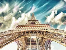 PHOTOGRAPH LANDMARK EIFFEL TOWER PARIS VIEW BENEATH ART PRINT POSTER MP5585A