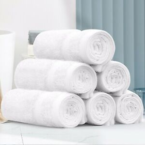 6PCS Washcloths Towel 550GSM Soft Organic Baby Washcloth - Face Towel  (White)