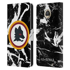OFFICIAL AS ROMA CITY GRAPHICS LEATHER BOOK WALLET CASE FOR MOTOROLA PHONES
