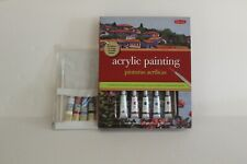 New Walter Foster Acrylic Painting Beginners Set with Extra Paints