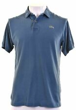 LACOSTE Mens Polo Shirt Size 5 Medium Blue Cotton  AV08