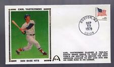Gateway Silk Cachet CARL YASTRZEMSKI Red Sox 3000 Hits Postmark 9/12/1979