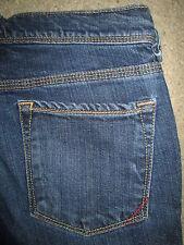 BANANA REPUBLIC Slim Skinny Stretch Dark Blue Denim Jeans Womens Size 4 P x 28