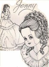 Pattern Jenny 19� Cloth Fabric doll jointed body insert glass eyes Clothes