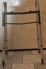 Guardian Folding Walker With Wheels-Model #30756P-Wheels-Adjustable Height-EUC