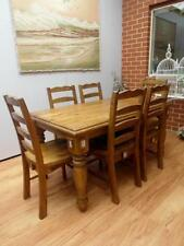 Solid Wood Dining Furniture Sets Rectangular 7 Pieces