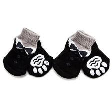 4PCsset Haustier Hundesocken Klein Hund Welpen Anti-Rutsch Socken WärmerSchuhe^