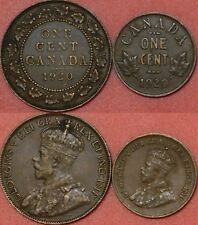 Very Fine 1920 Canada Large & Small 1 Cents