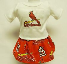 St Louis Cardinals Outfit (2) For 18 Inch Doll