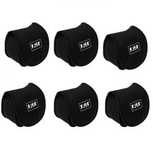 6Pcs Neoprene Fishing Reel Bag Waterproof Spinning Reel Cover Storage Pouch