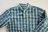 MENS CABELA'S LONG SLEEVE  SHIRT BUTTON FRONT TBLUE   POCKET SIZE XL
