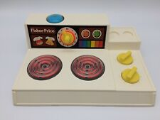 Vintage Fisher Price Kitchen Stove Top Burners Timer Work 1978 Cleaned Tested