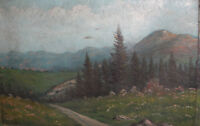 European antique impressionist oil painting landscape