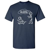 Together Man Sarcastic Graphic Humor Cool gift Idea Funny Novelty T-shirts