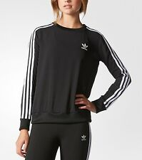 SMALL  adidas Women's  3-Stripes CHIFFON  Long Sleeve  SWEATSHIRT  AY5241  LAST1