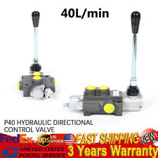 1 Spool P40 Hydraulic Direction Control Valve 11gpm 40lmin Open Center System