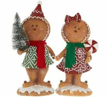 2-piece Gingerbread Boy & Girl by Valerie