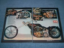 "Custom Pan Head Harley-Davidson Vintage Chopper Article ""It's Magic"""