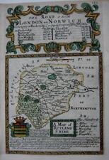 RUTLANDSHIRE  RUTLAND  OAKHAM  BY EMANUEL BOWEN GENUINE ANTIQUE MAP c1720