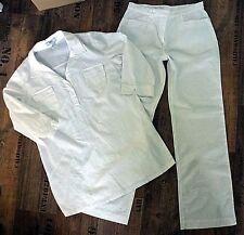 593. weiße Leinen- Hose + Hemdbluse von b.p.c. selection Gr. 40 #Beruf, #weiß,