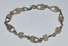 Vintage Sterling Silver Cute Baskets Bracelet