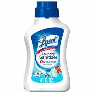 2Pack Lysol Laundry Sanitizer Additive, Crisp Linen-41oz Kills 99.9% of Bacteria