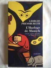 L'horloge De Munich de Giorgio Pressburger. Nouvelles traduites de l'italien
