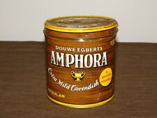 """VINTAGE 5 1/2"""" HIGH DOUWE EGBERTS AMPHORA PIPE TOBACCO TIN CAN *EMPTY*"""