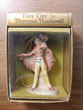 Norman Rockwell Tiny Tim by Gorham 1979 Figurine W/ Original Box,Japan