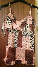 NEW ASOS animal floral print pretty V-neck strappy Camisole vest top 8 10