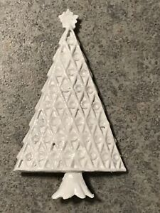 VINTAGE WHITE  CHRISTMAS TREE PIN BROOCH