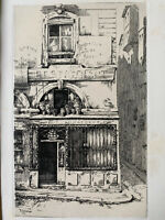 Ernest Laborde gravure eau forte etching Au Petit Dunkerque