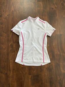 Pearl Izumi Select Series 1/2 Zip Cycling Jersey White  Pink Size Medium