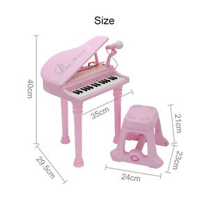 31-key educational music electronic children's toy grand piano with stool
