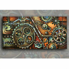 Painting Giclee Canvas Print Original Michael Lang Art Mechanical Contemporary