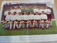 1967/1968 Football League Review: Luton Town Double Page Team Group Image Within