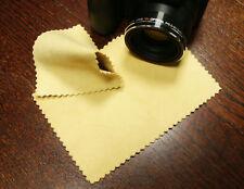 2x Echtes Ledertuch Reinigungstuch für Objektiv Display, Chamoisleder