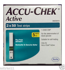100 Test Strips of Accu-Chek Active Blood Sugar Monitoring Device, Glucometer