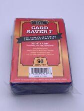 More details for cardboard gold💎card saver 1💎plastic semi rigid🌟psa/bgs grading holder x 50