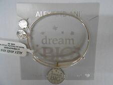 Alex and Ani Dream Big Bangle Bracelet Shiny Silver New Tag Box Card